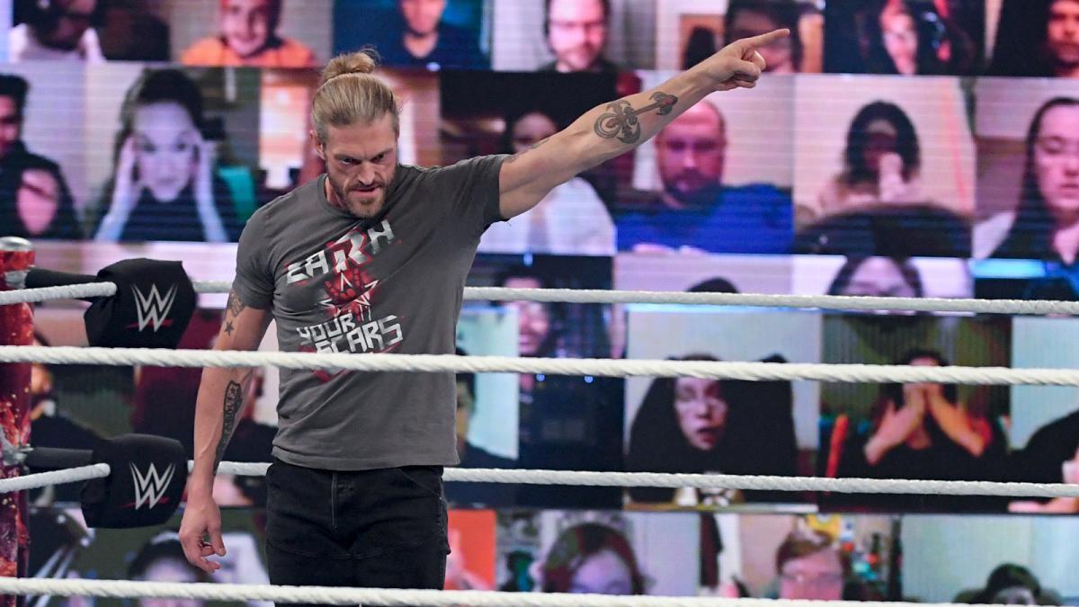 Edge on WWE Elimination Chamber