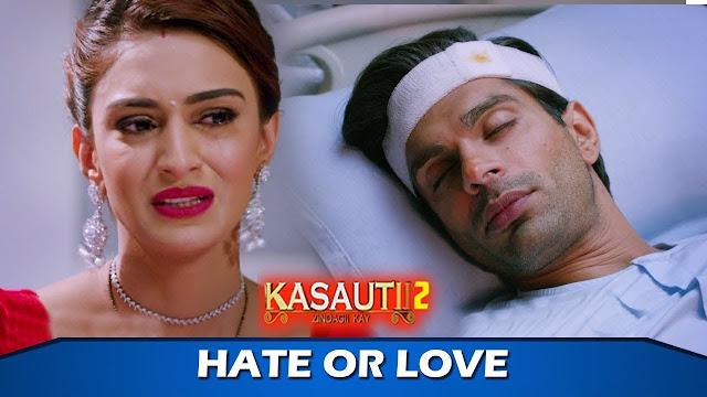 Big Twist : Prerna's tight hug to Mr Bajaj rescuing Veena in Kasauti Zindagi Ki 2