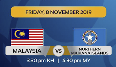 Live Streaming Malaysia U19 vs Northern Mariana Island U19 (8.11.2019)