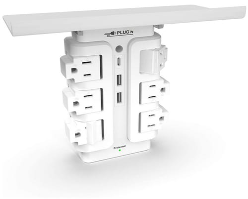 Plugn Premium 6 Outlet Rotating Wall Outlet Surge Protector