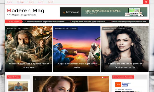 The modern mag responsive blogger template