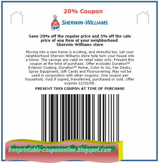Sherwin Williams Printable Coupons 2018 - Free Coupons By Mail For