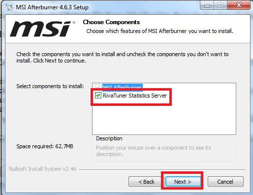 Hướng dẫn cài đặt phần mềm MSI Afterburner 4.6.3 mới nhất trên máy tính d