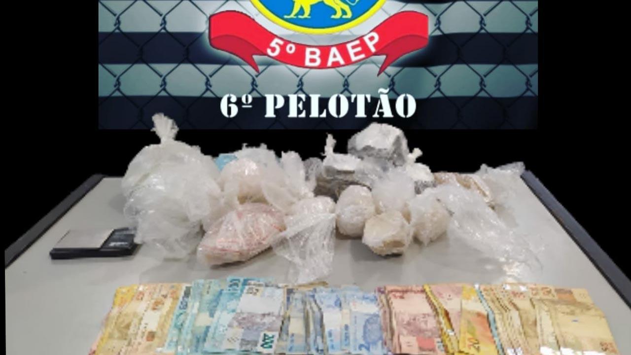 Baep apreende mais de mil porções de drogas em Carapicuíba