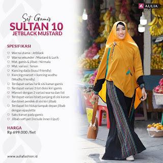 Koleksi Gamis Set Syari Aulia Sultan 10 Jetblack Mustard