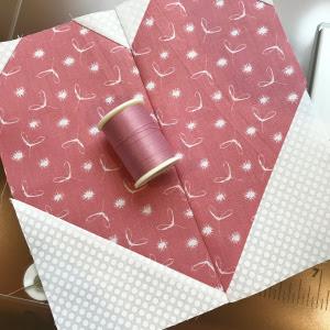 pink pieced heart