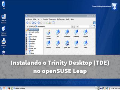 Trinity Desktop no openSUSE Leap