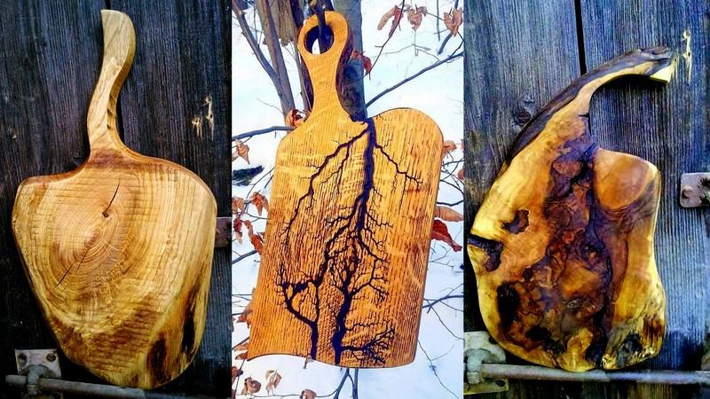 konkurs, deseczkowo, deski drewniane, figury lichtenberga na drewnie, wzory wypalane pradem w drewnie, zycie od kuchni