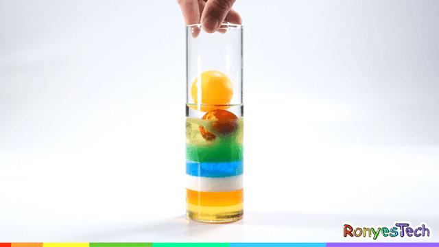 Rainbow Density Column Experiment