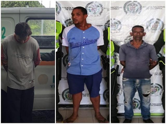 Tres que eran buscados por homicidio cayeron en poder de las autoridades en Valledupar
