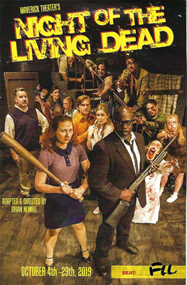 Night of the Living Dead playbill (Source: Maverick Theatre, Fullerton, CA)
