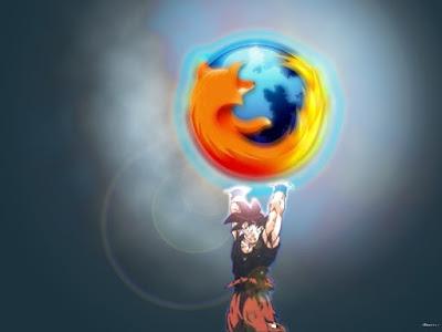 Wallpaper Mozilla Firefox Son Goku Dragon Ball Z