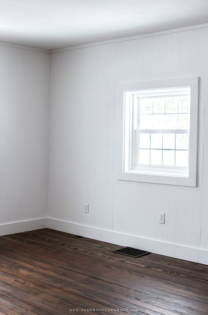 White paneled wall
