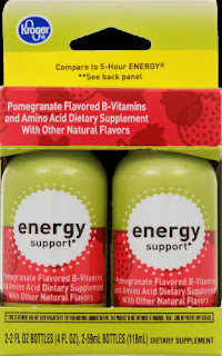 A poorly-cropped image of Kroger Pomegranate Energy Support Shots