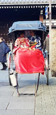 Rickshaw ride in Kyoto