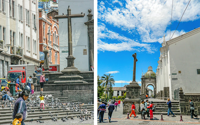 Cruzeiros da Igreja de São Francisco e da Catedral de Quito