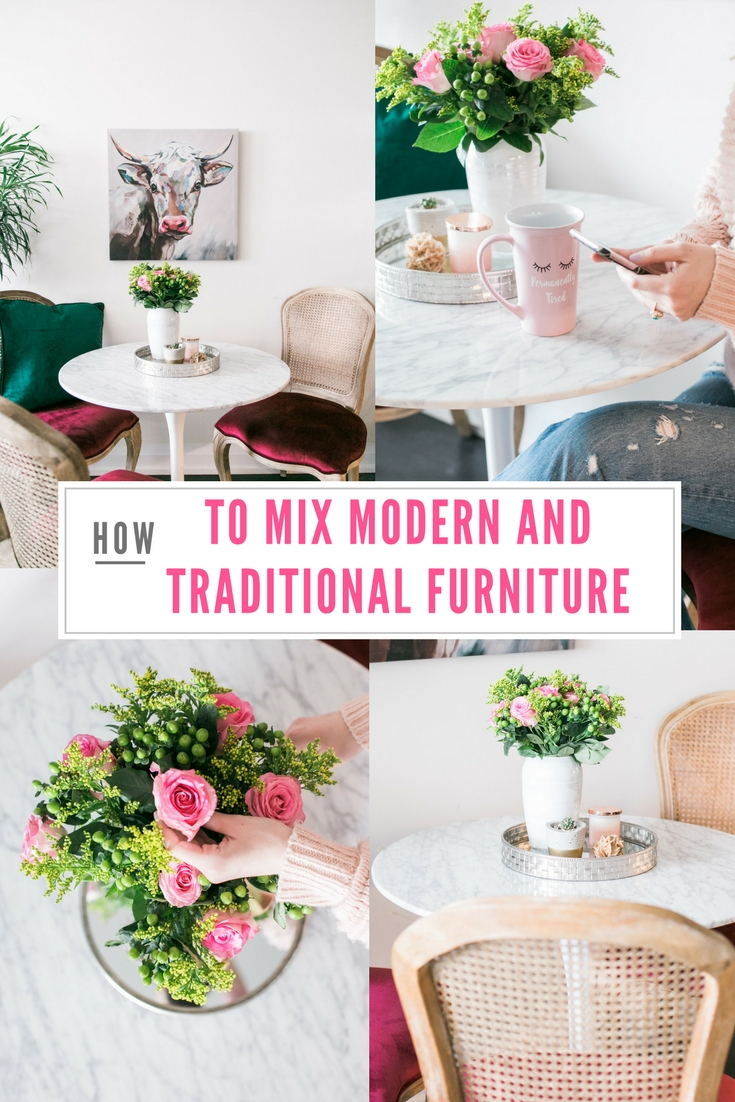 Bijuleni - How to Mix Modern and Traditional Furniture - Small condo dining room