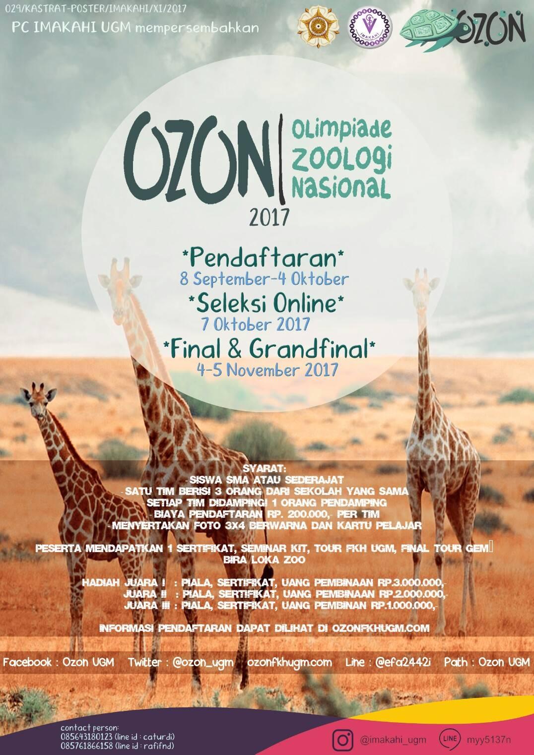 Olimpiade Zoologi Nasional 2017 | Univ. Gadjah Mada | SMA Sederajat