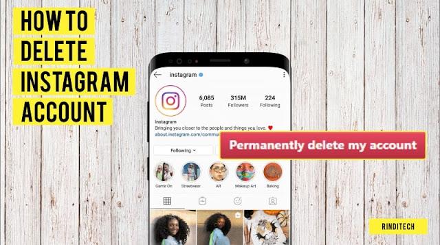 Cara Menghapus Akun Instagram Permanen & Sementara