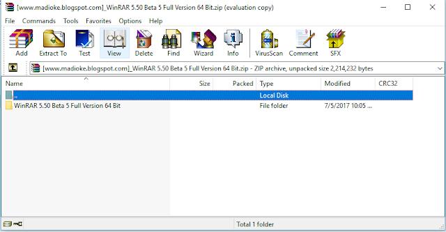 WinRAR Terbaru 5.50 Beta 5 Full Version