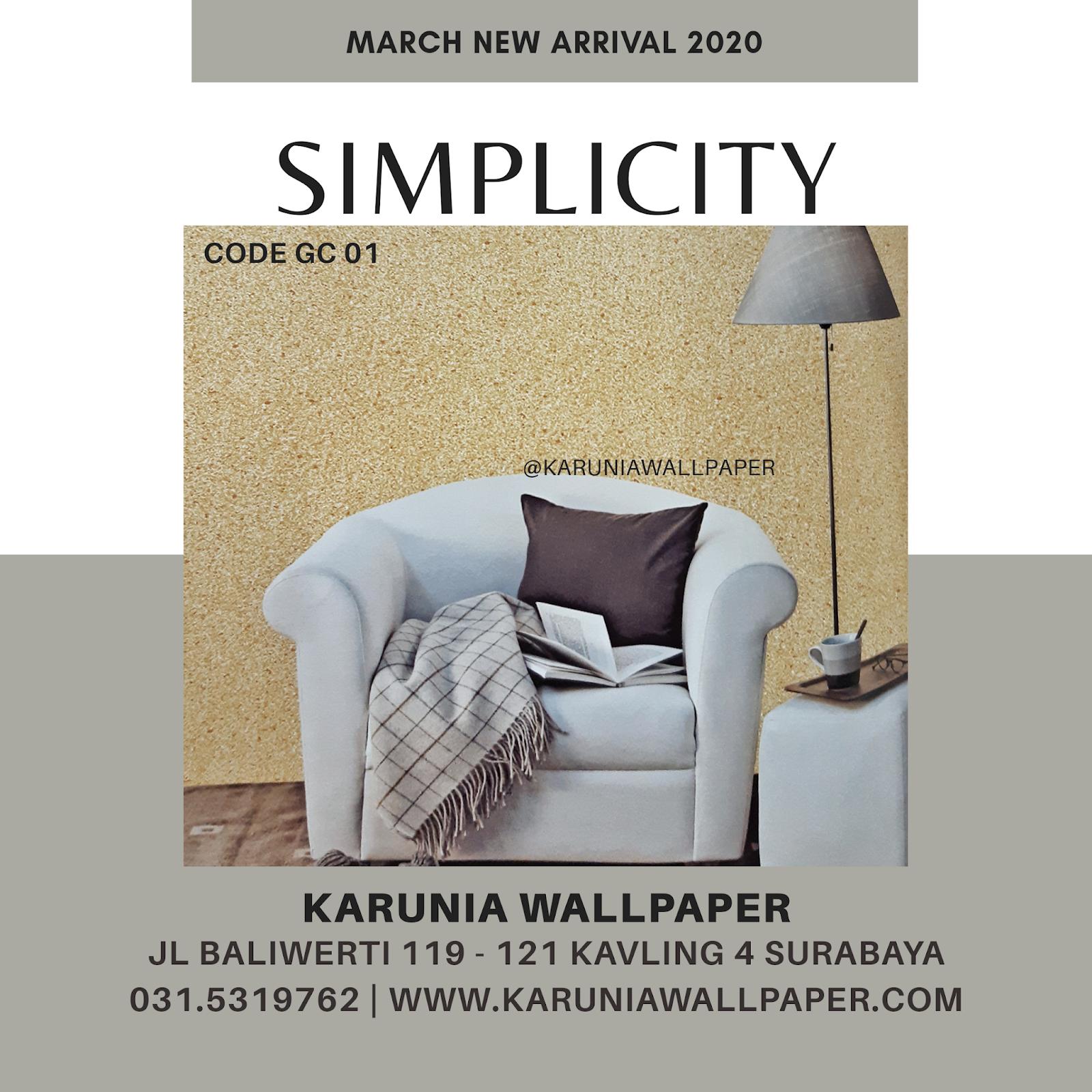 jual dinding wallpaper minimalis kuning