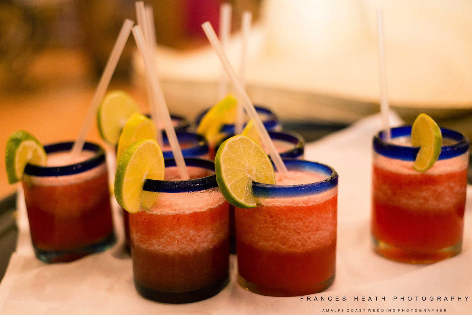 Strawberry Margaritas at wedding reception
