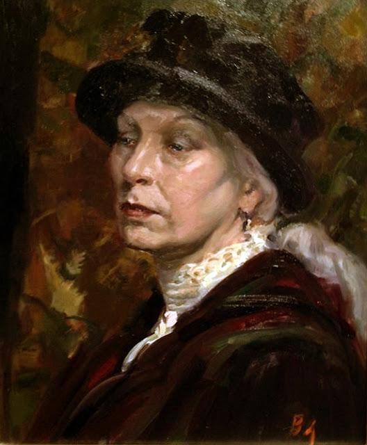 Portrait of Woman, Self Portrait, Bill Angresano, International Art Gallery, Self Portrait, Art Gallery, Portraits of Painters, Fine arts, Self-Portraits, Painter Bill Angresano