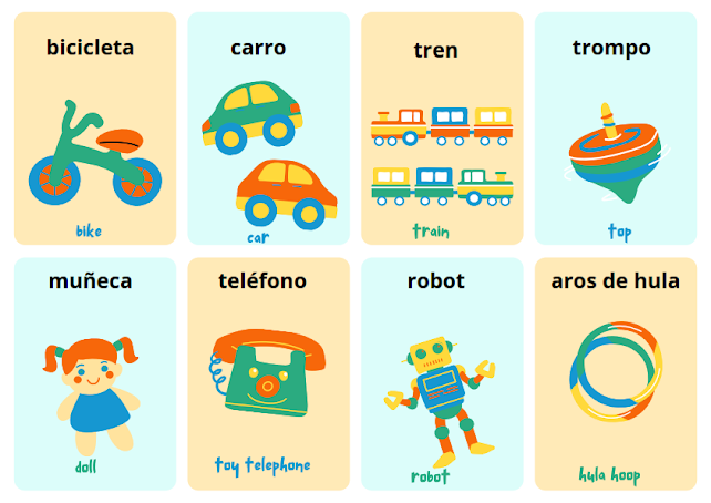 toys in Spanish