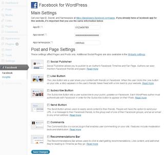 Wordpress Resmi Facebook Eklentisi