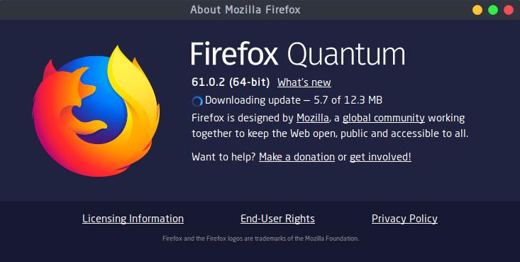 تثبيت متصفح فايرفوكس كوانتم على الكالي لينكس