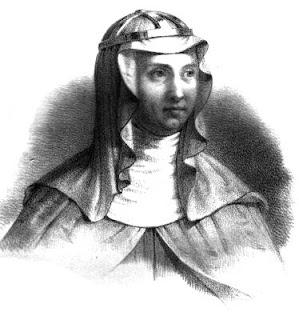 Gravure représentant Sainte Brigitte de Suède