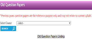 KUK Question papers dpwnload pdf