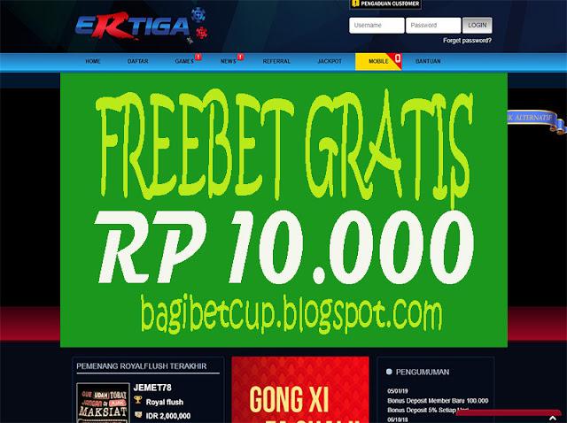 PokerClub88 Freebet Poker 10000 ErtigaPoker - Freebet