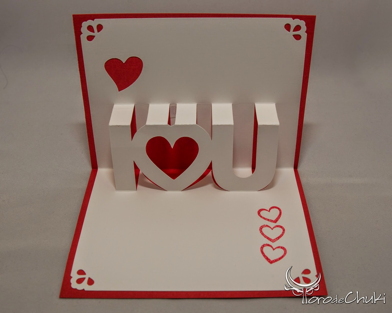 Awesome SVGs Kirigami Valentines Day Card English And