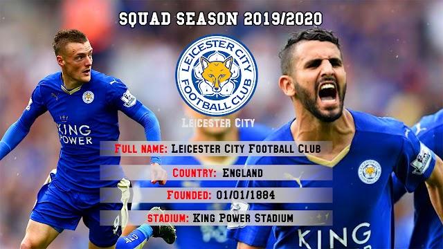 Leicester City Squad Premier League 2019/2020