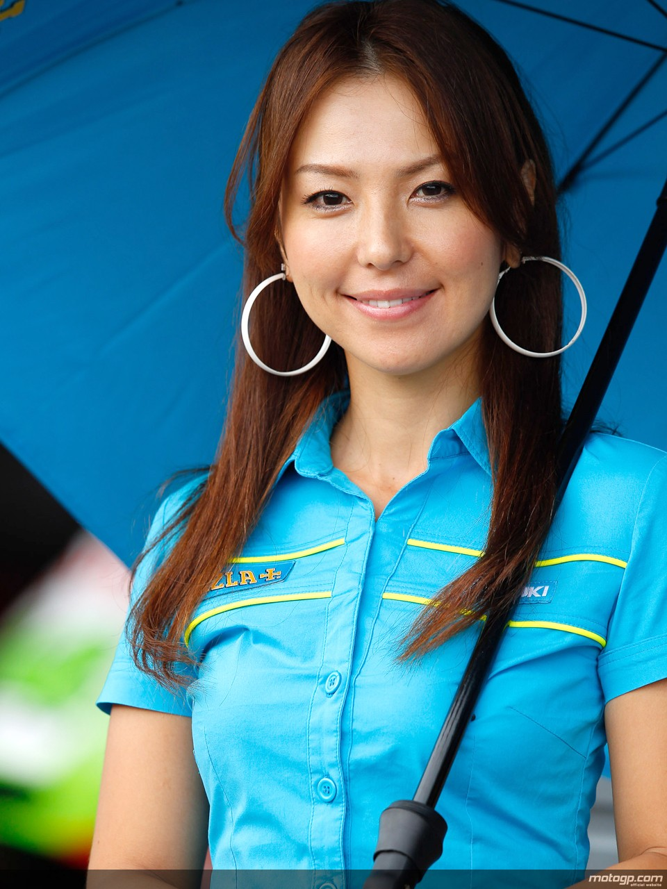 #MotoGP   Paddock girls, Grid girls, Long hair styles