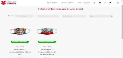 masker untuk indonesia kolaborasi dengan HomeCredit