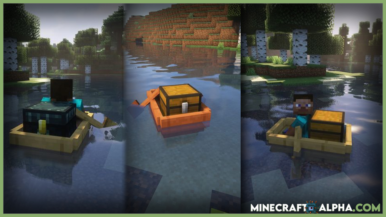 Boat Container 1.17.1 Mod For Fabric (Storage With Boat)