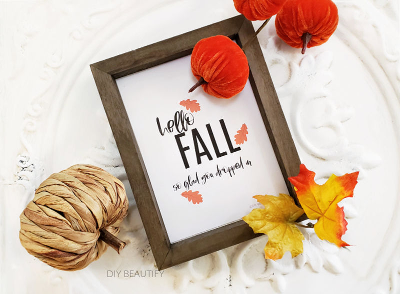 colorful fall vignette