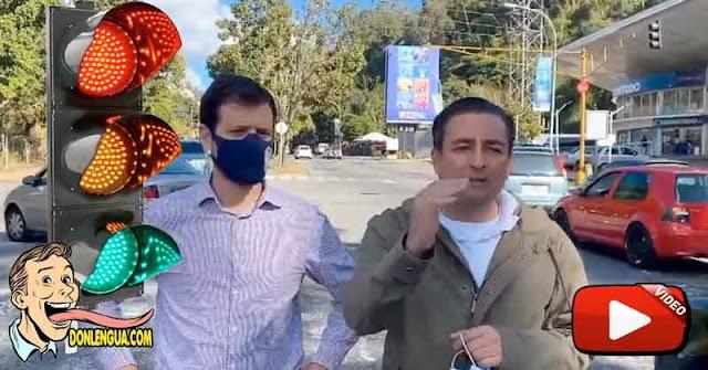 Alcaldes de Baruta y EL Hatillo hacen todo un show por haber reparado un miserable semáforo