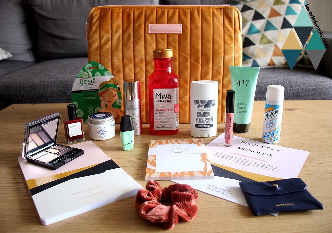 revue beauté édition limitée box Birchbox Monoprix