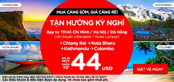 bán vé Air Asia bay tận hưởng kỳ nghỉ