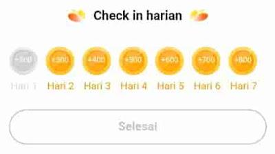 check in di aplikasi hello