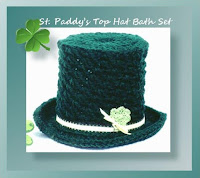 http://www.crochetmemories.com/blog/st-paddys-top-hat-bath-set/