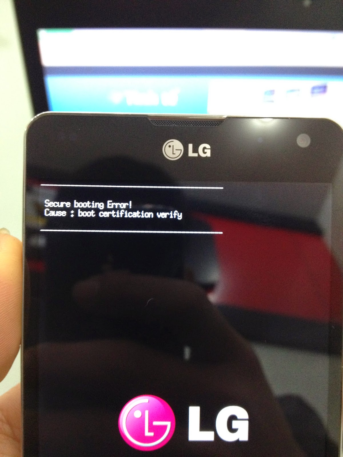 Tutorial] secure booting error Optimus G F180