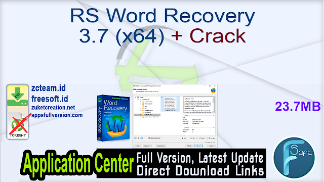 RS Word Recovery 3.7 (x64) + Crack_ ZcTeam.id