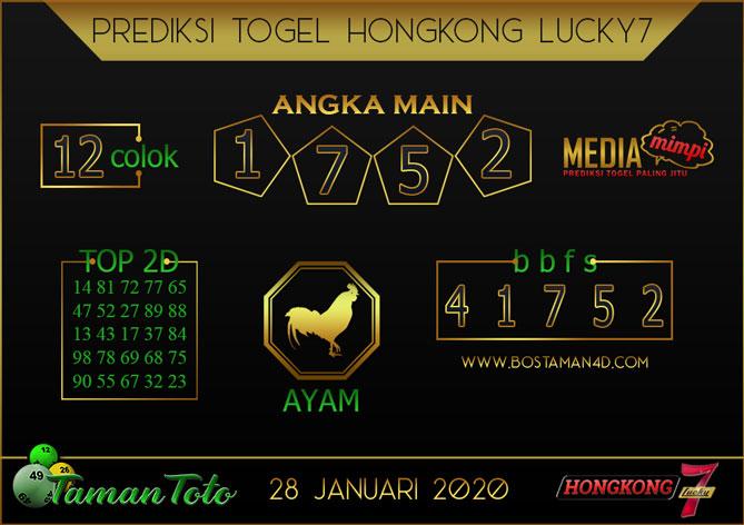 Prediksi Togel HONGKONG LUCKY 7 TAMAN TOTO 28 JANUARI 2020