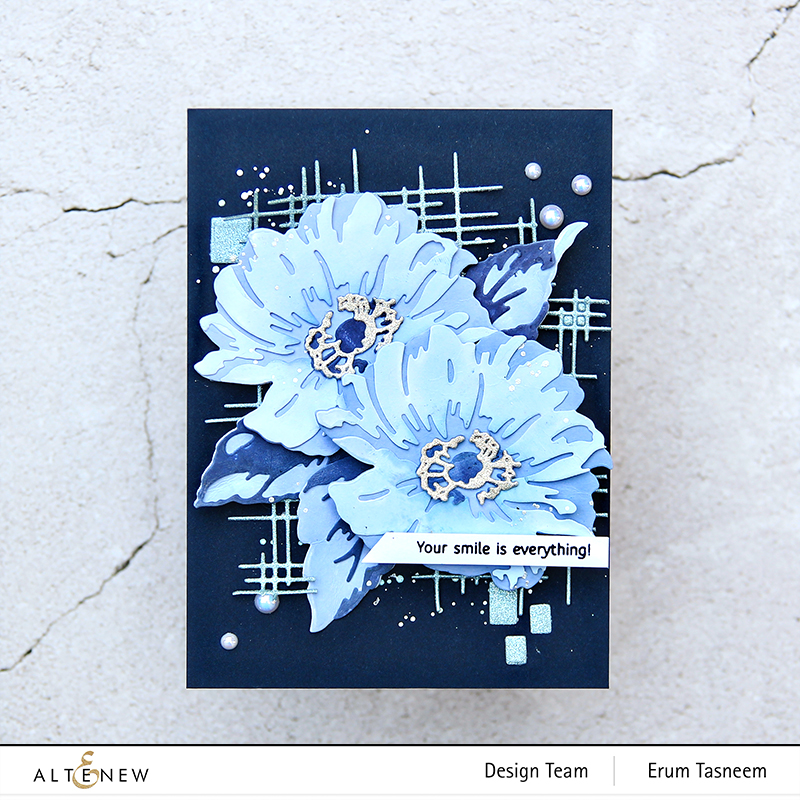 Altenew Layered Wood Flower Die Set + Linear Crossroads Die Set | Erum Tasneem | @pr0digy0