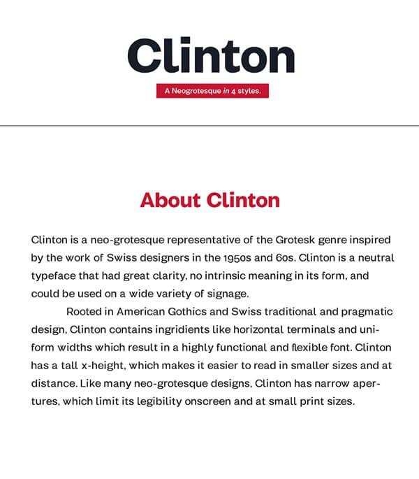 Download Gratis Sans Serif Komersial Font - Clinton Free Type Family