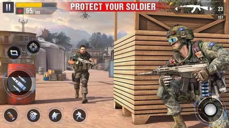 Real Commando Secret Mission Mod Apk features